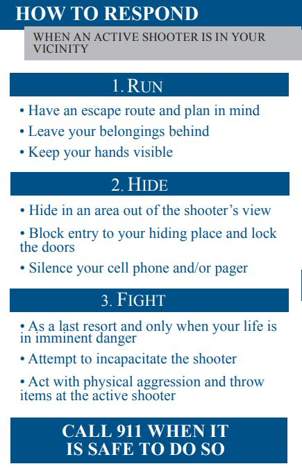Active Shooter Safety | Weigand Omega