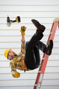 Worker Falling From Ladder