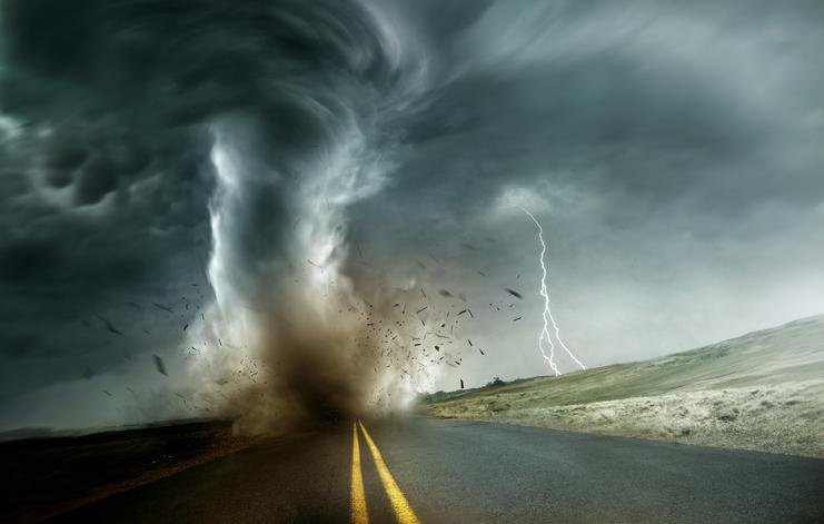 photo of a tornado
