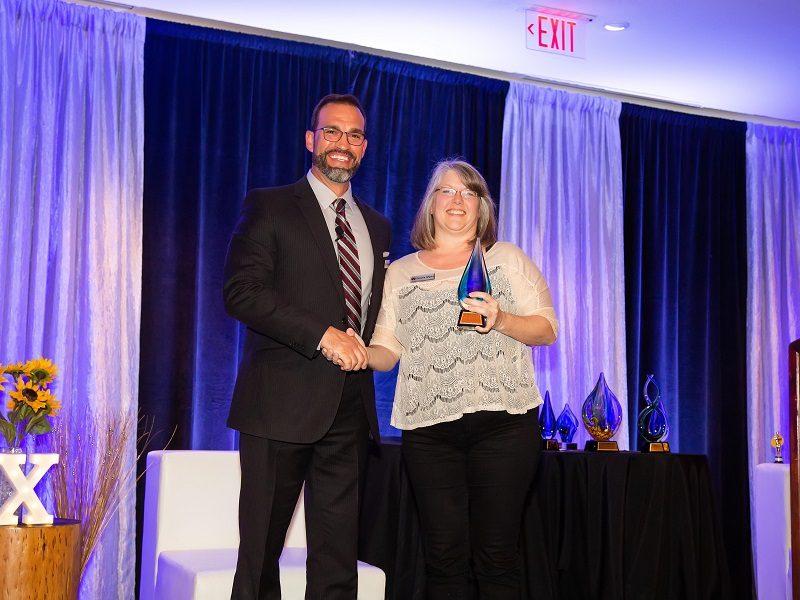 connie receiving award