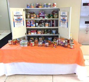 pantry of food items